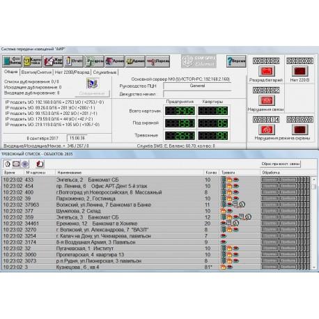 ПО «Основной сервер ПЦН»